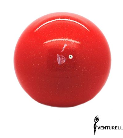 venturelli, ball, red, glitter, 18cm