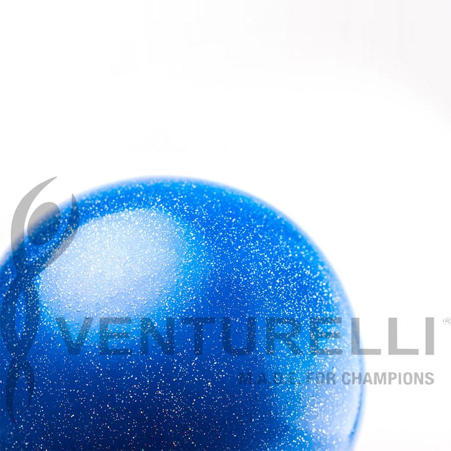 venturelli- ball- glitter-18cm-color- blue