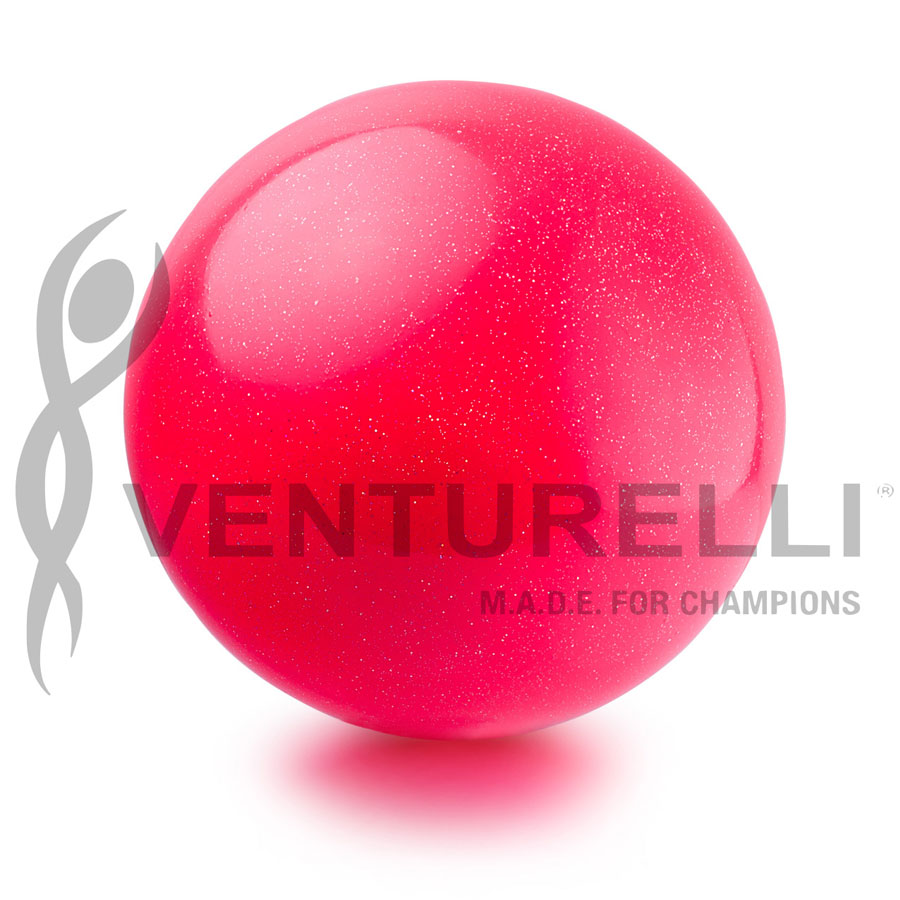 venturelli- ball- glitter-18cm-color- pink