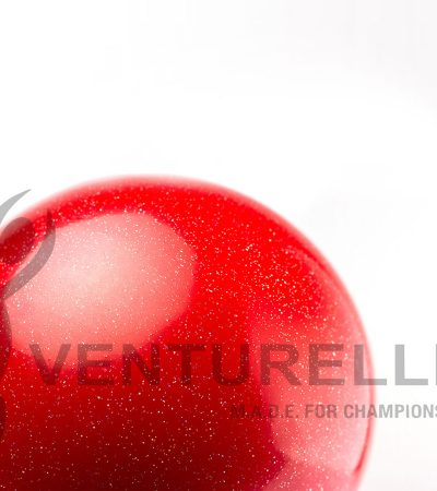 VENTURELLI-RED-GLITTER-BALL