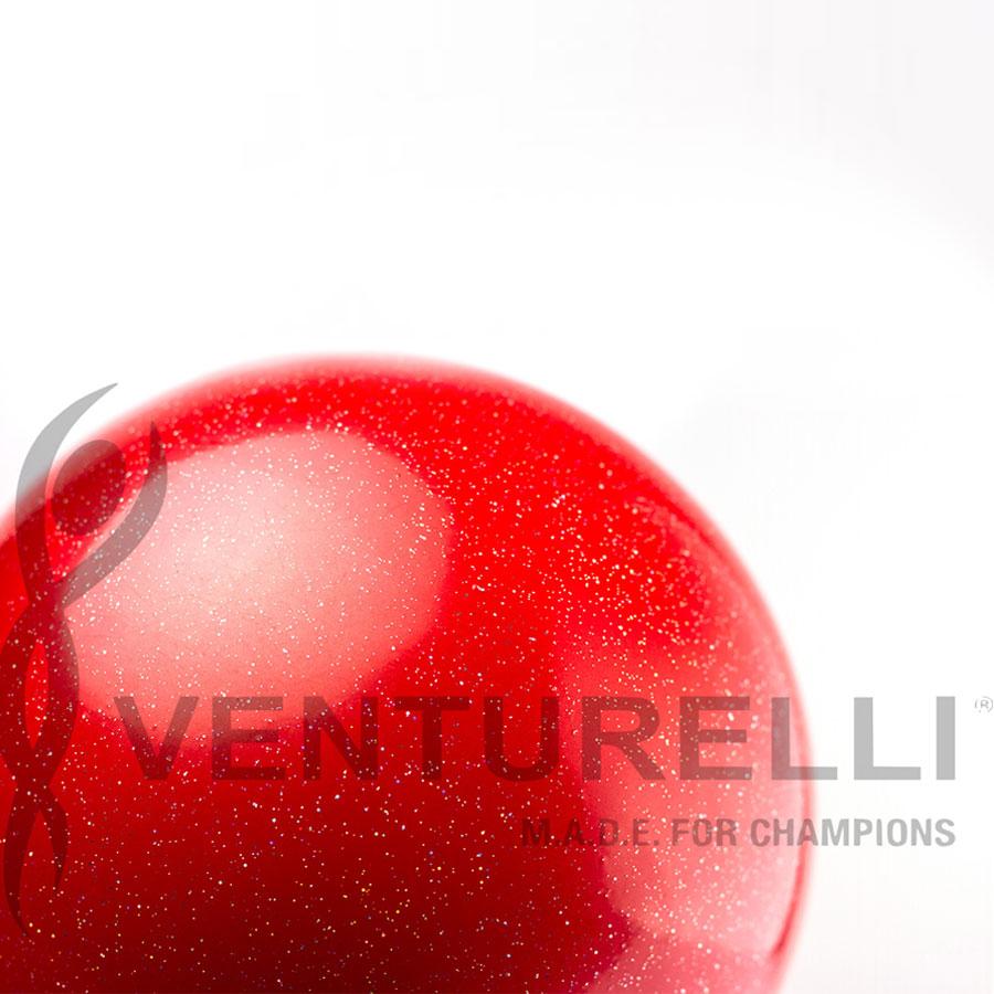venturelli- ball- glitter-18cm-color- red