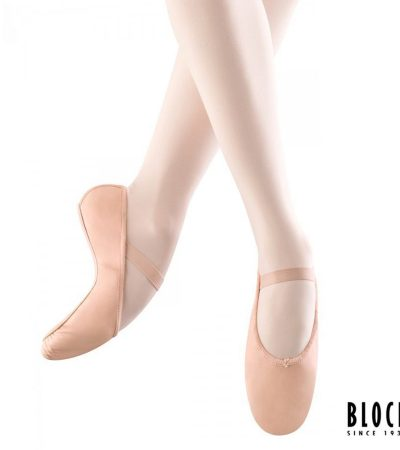 ballet,shoes, leather, white, pink,children, bloch, s0209g