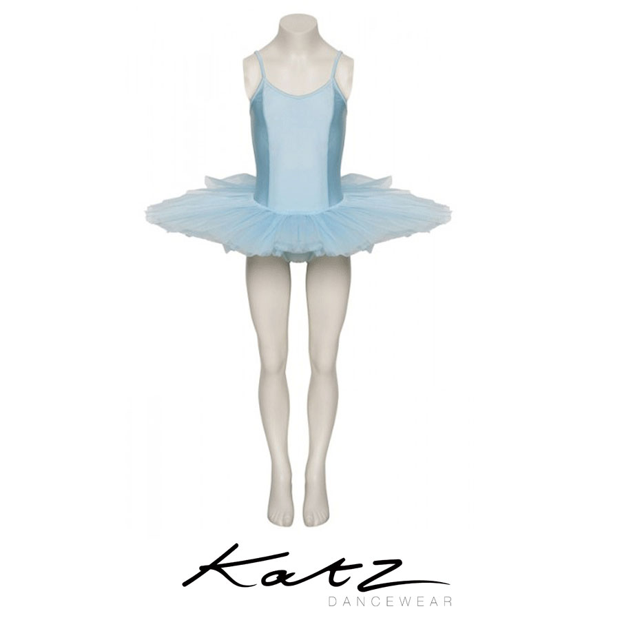 Tutu leotard with attached skirt Full skirt with 4 net layers Stiff netting Lovely and comfortable Front inside lining Front panelling Great for ballet Also available In lots more colours Great for ballet Also available In lots more colours Material: Nylon/Lycra Designed by Katz Dancewear