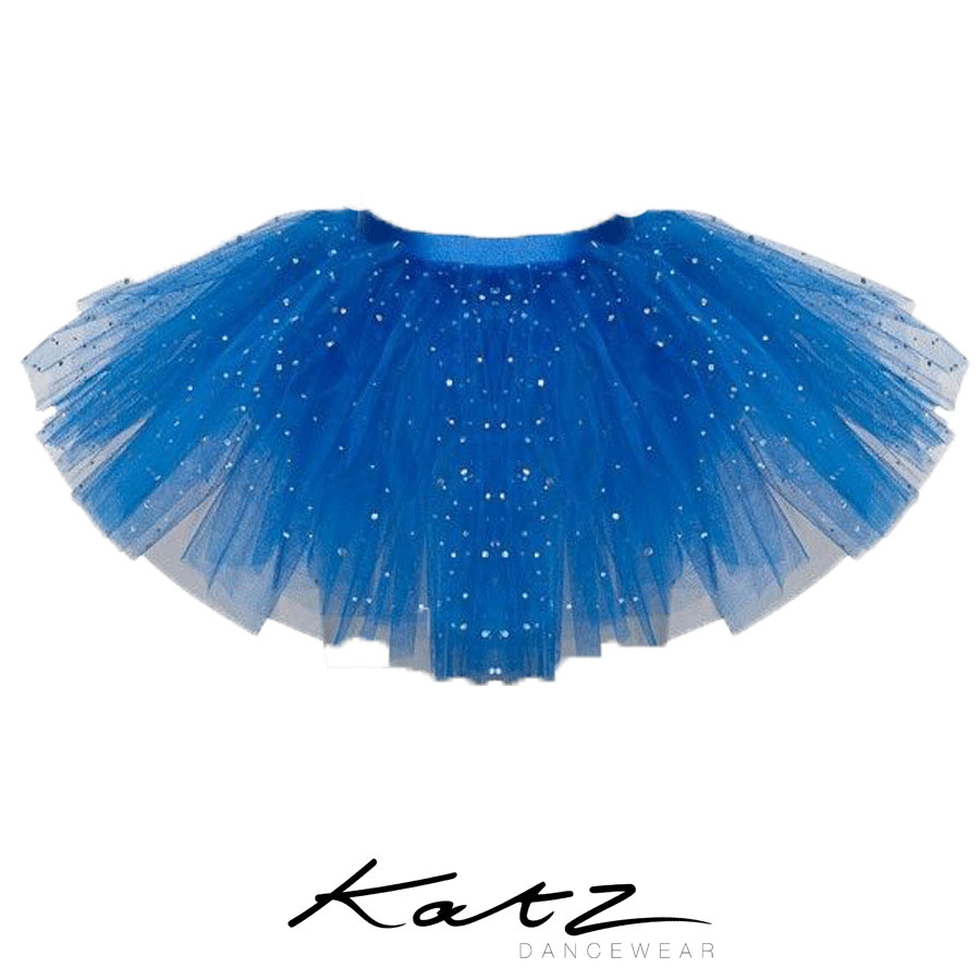 Gorgeous sparkly sequin detailing embedded on the top layer Full skirt with 3 net layers Stiff netting Excellent quality Lovely and comfortable Great for ballet, fance, Halloween, fancy dress and many more occasions Designed by Katz Dancewear