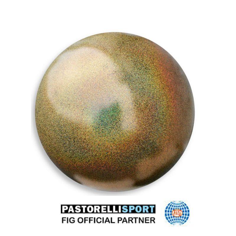 03906 BRASS-GLITTER-HV-GYM-BALL-PASTORELLI-FIG