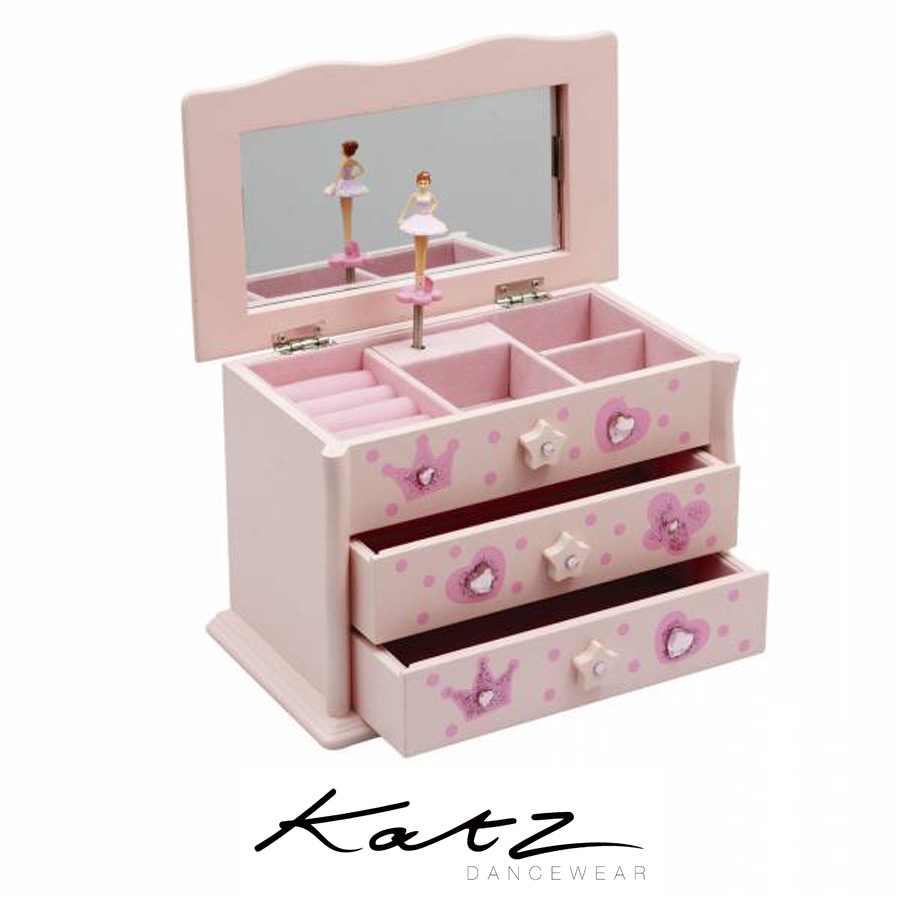 KATZ BALLERINA WOODEN MUSIC JEWELLERY BOX Ballet Shop Dance Street