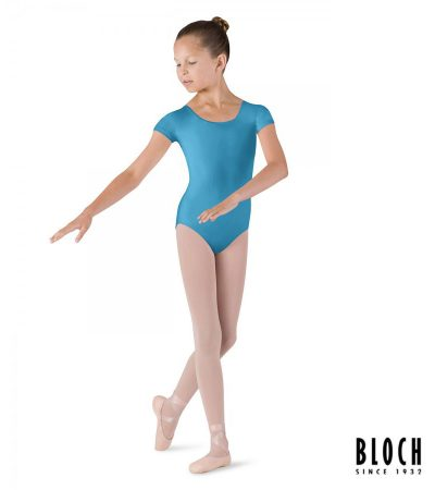 bloch-cap-sleeve-leotard-for-children-cl5602-color-turquoise