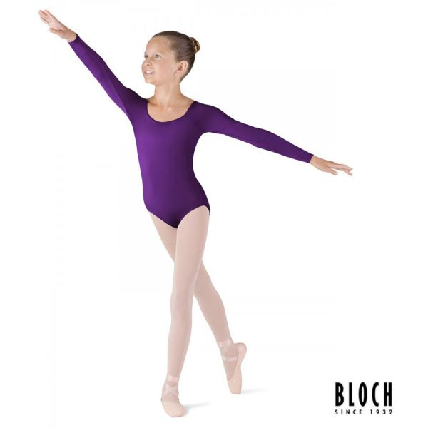 bloch-long-sleeve-leotard-for-children-cl5609-color-aubergine