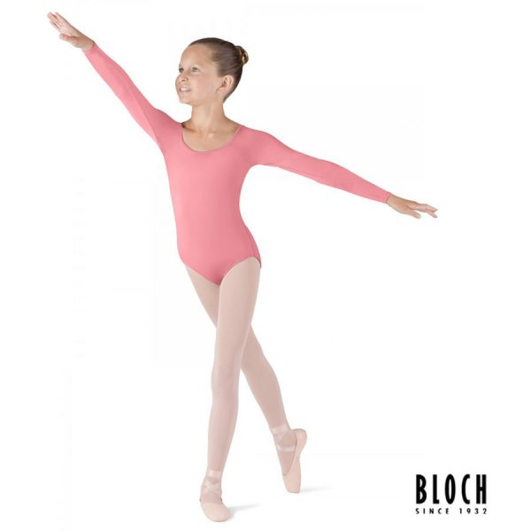 bloch-long-sleeve-leotard-for-children-cl5609-color-coral