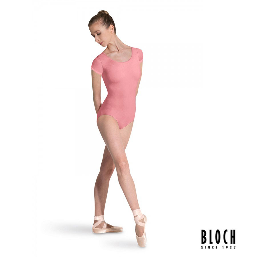 bloch-cap-sleeve-leotard-l5602-color-coral