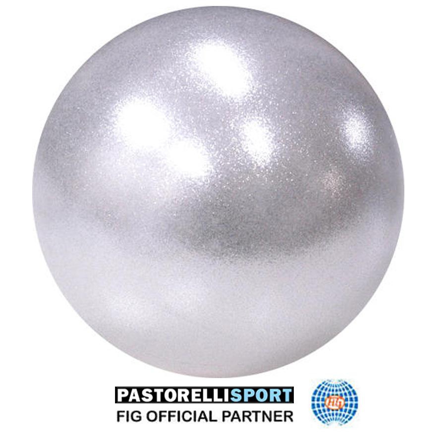 03180 SILVER AB-GLITTER-HV-GYM-BALL-PASTORELLI-FIG