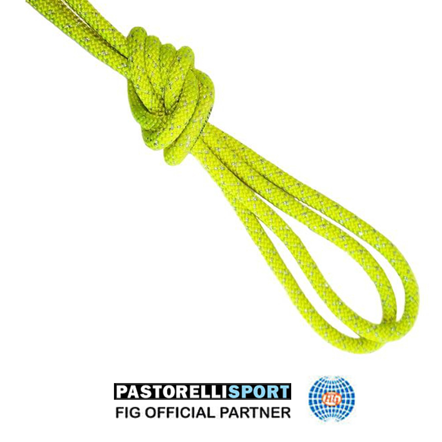 pastorelli-metallic-rope-new-orleans-for-rhythmic-gymnastics-color-fluo-yellow-silver-00132