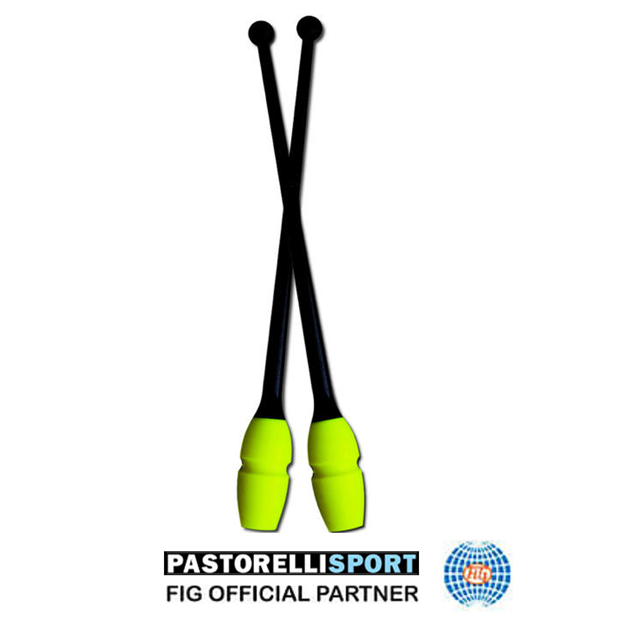 pastorelli-connectable-clubs-masha-for-rhythmic-gymnastics-color-40,5 cm-black-fluo-yellow-02918