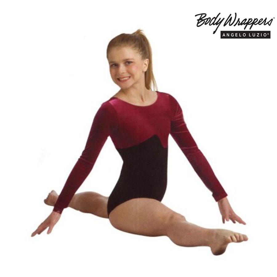 7015bc73761b BODY WRAPPERS® LONG SLEEVE VELVET LEOTARD FOR CHILDREN 3413 - Ballet ...