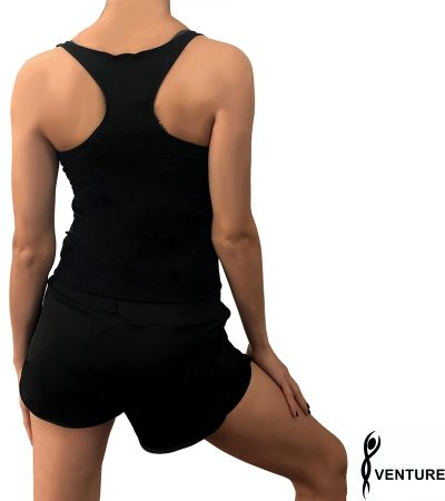 VENTURELLI TOP BLACK BACK