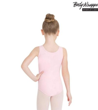 BODY-WRAPPERS-TANK-LEOTARD-PINK-VL115