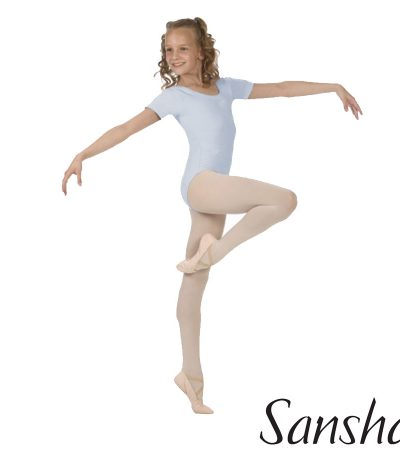 E255C-MAGGY- SANSHA SHORT SLEEVES LEOTARD MICROFIBER