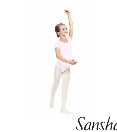 E255C-MAGGY-SHORT SLEEVES SANSHA LEOTARD MICROFIBER