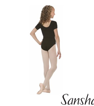 E255C-MAGGY LEOTARD SANSAHA SHORT SLEEVES MICROFIBER