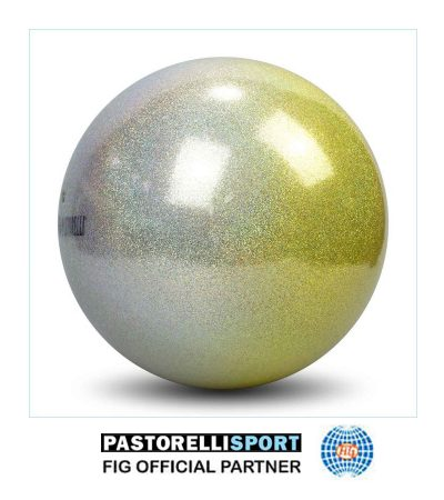 PASTORELLI-HIGH-VISION-BALL-18cm-SILVER-YELLOW