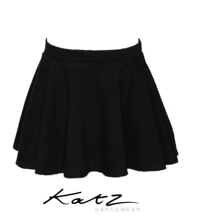 CIRCULAR COTTON PULL ON SKIRT BLACK KATZ KDSKC03